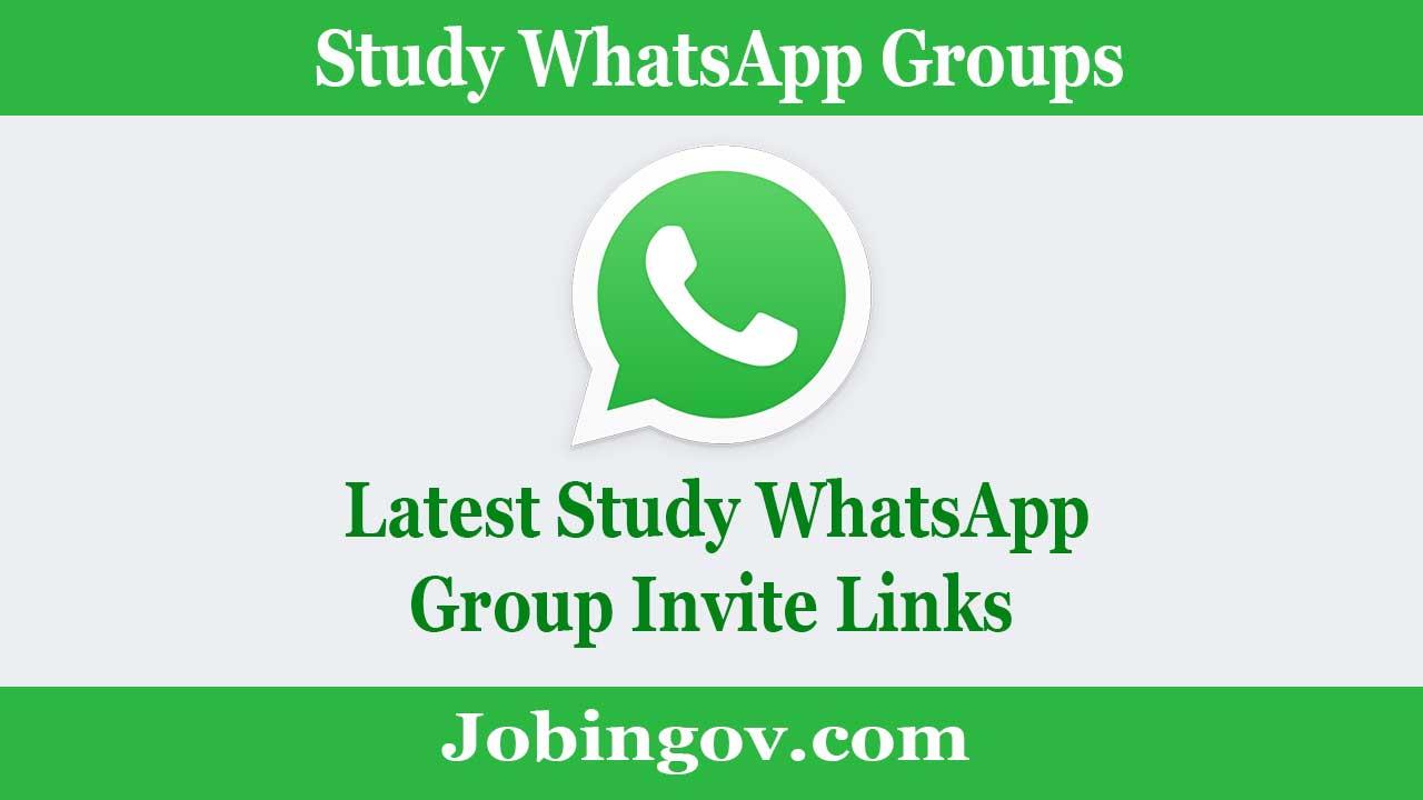 Whatsapp study whatsapp group links